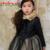 2016 Nova Outono Inverno Meninas Crianças Vestido de Chiffon Geométrica Arco Turn-down Collar vestido de Baile Vestido de Manga Longa para Meninas bonitos