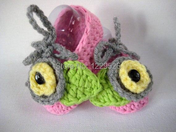 Mezgimo kūdikių rinkinys / nėrimo kūdikių skrybėlę batų - Kūdikių drabužiai - Nuotrauka 4