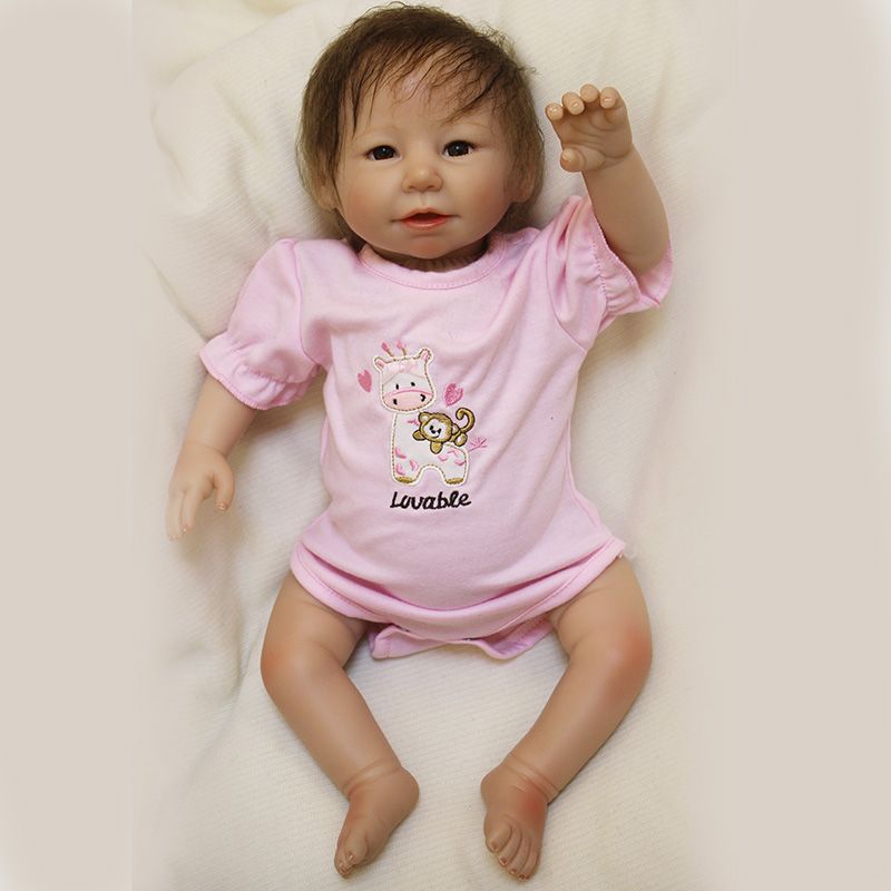 OtardDolls Cute BeBe Reborn Doll PP Cotton Body 50cm Silicone Reborn Baby Dolls Lifelike Newborn Baby Gift Juguetes Babies Toys