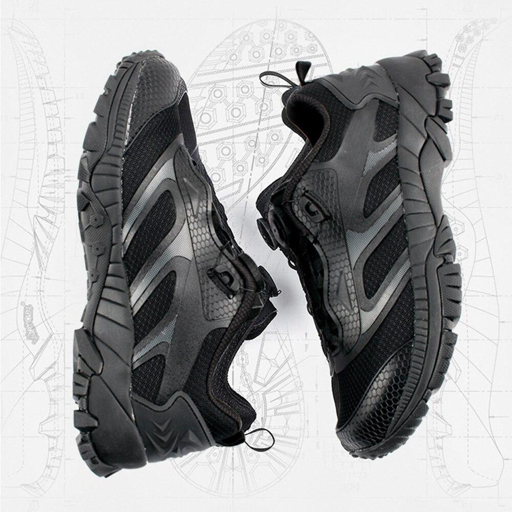 Bottes tactiques à boucle automatique à réaction rapide bottes de Combat d'entraînement militaire légères chaussures de randonnée