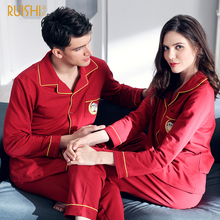 bf0079b473 J Q new men and women matching pajamas cotton clothing housecoat women  sleepwear Christmas pyjamas couples Christmas