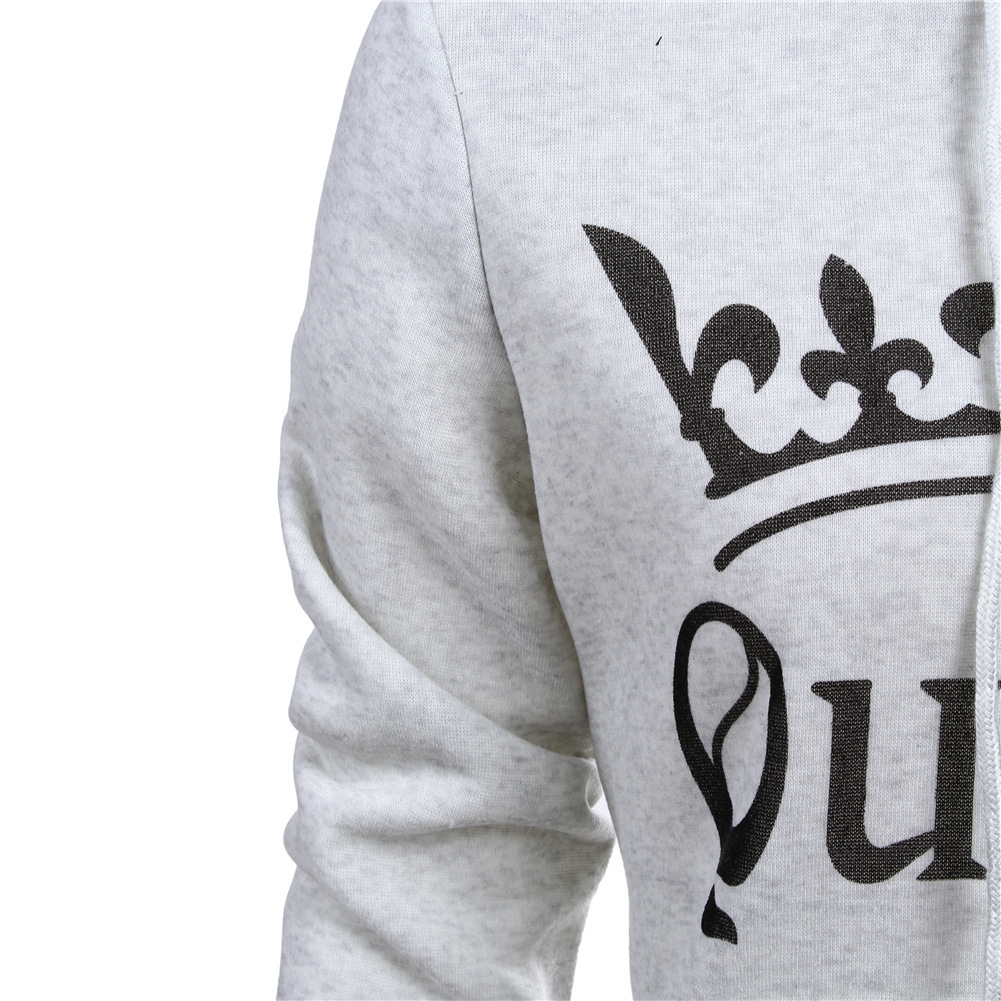 Autumn Winter Knitted King Queen Letter Printed Couple Hoodies Hip Hop Street Wear Sweatshirts Women Hooded Pullover Tracksuits Autumn Winter Knitted King, Queen Printed Couple Hoodies HTB1uooamPqhSKJjSspnq6A79XXaT