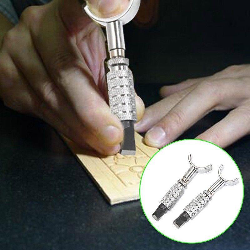 New Useful Adjustable DIY Manual Rotary Tools Leather Carving Swivel Knife Blade Tools Set