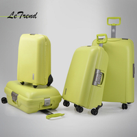 Letrend high quality Women Suitcases Wheel Rolling Luggage Spinner password Travel Bag 20 inch Trolley Fashion Women's Bags