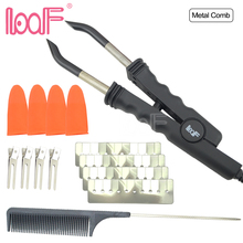 LOOF JR618 Flat Plate Hot Fusion Heat Connector Pre bonded Hair Extension Iron Hot Fusion Wand Hair Connector Tool Kits