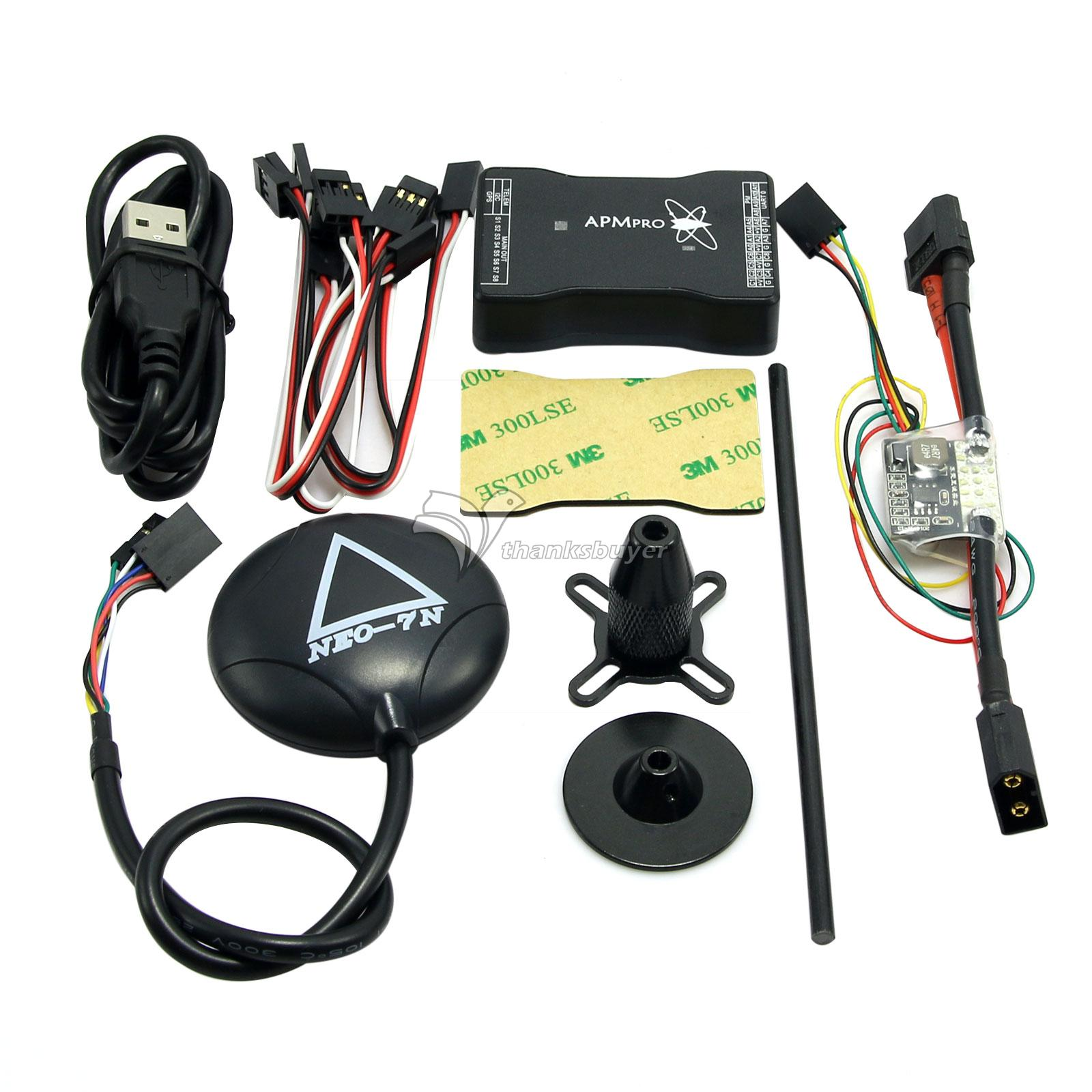 FPV Mini APM PRO Flight Control with Ulbox Neo-7N GPS & Power Module mini pro