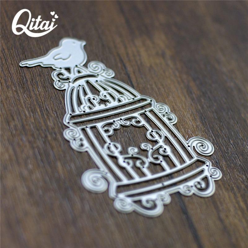 QITAI Πουλί Birdcage Shape Metal κοπής μοντέλο - Τέχνες, βιοτεχνίες και ράψιμο - Φωτογραφία 2