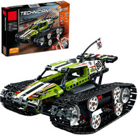 Fit Legoing military Technic RC Track Racer Model Building kits Blocks Tank Electric Motor Power Function 42065 Brick Toys