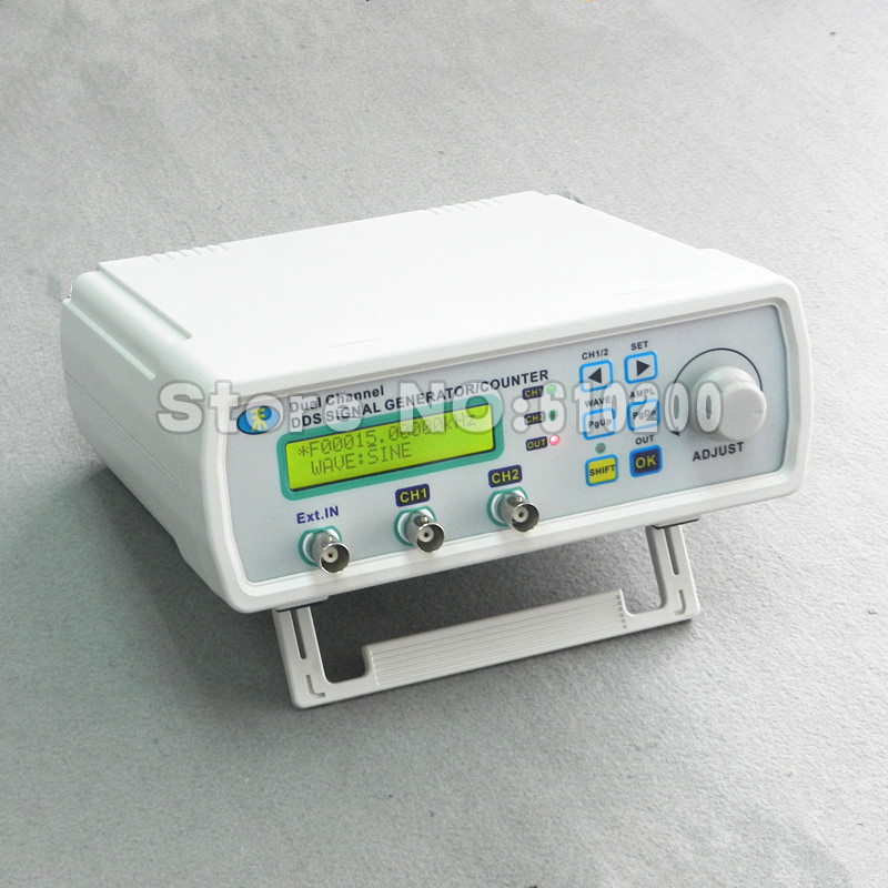 MHS-3200A DDS NC dual channel function signal generator TTL  DDS Signal Generator waveform generator 12 MHz free shipping mhs 3206a dual channel nc function dds signal generator counter dds signal source frequency meter 6mhz
