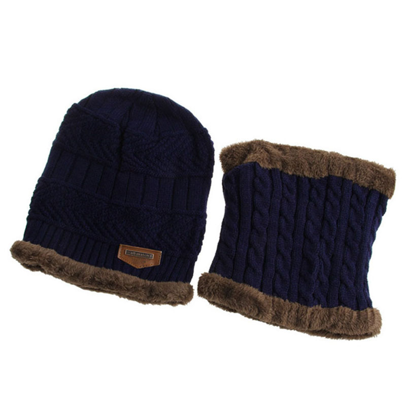 Warm Knitted Hat and Circle Scarf (34)