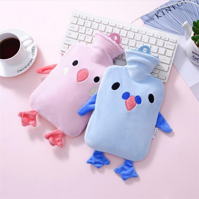 31*23CM Cartoon Warm Water Bottle Cute Comfortable Hand Warming High Quality Rubber PVC Hot Bag JJ206 warm water bag hot water bottle warm hand po warm bao water filling small mini cute thick pvc explosion proof