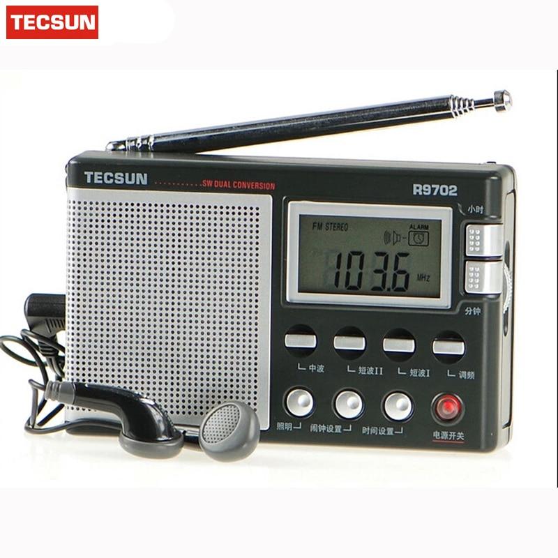 Original Tecsun R-9702 Doppelkonversion Fm Radio Stereo Digitalanzeige Mw Sw Volle Band Tragbare Radio Lautsprecher Mit Antenne Uhr Zu Den Ersten äHnlichen Produkten ZäHlen Tragbares Audio & Video