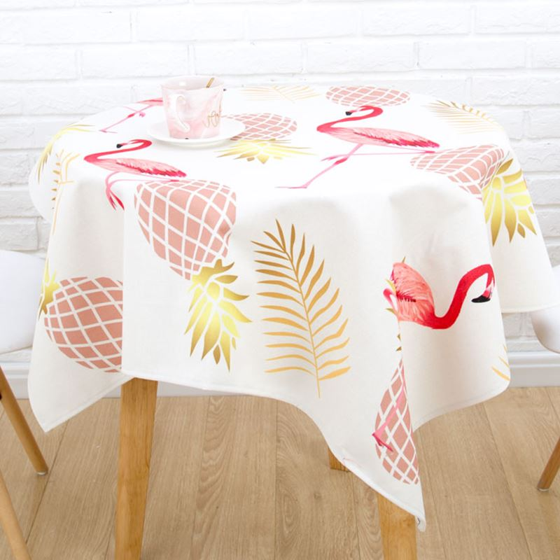 US 41 OFF Flamingo Pineapple Print Table Cloth Rectangular Wedding Table Cloth Gold Table Cloths For Events Dining Table Cover Beach Towel In