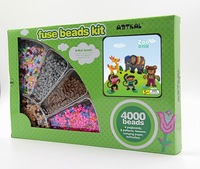 Artkal Fuse Beads 4000pcs Diy Craft Kits Set With Pegboards Funny Toys Kawaii Cartoon Handmade Accessories