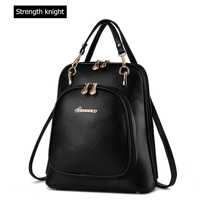 Y40 Multicolor Women PU Leather Backpacks for Teenage Girls Stylish School Backbag black Casual Women Leather
