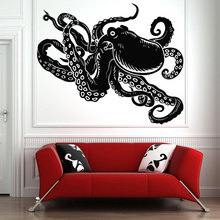 Ocean Biological Sea Decoration Octopus Tentacles Wall Sticker Vinyl Home Decor Living Room Bathroom Decals Interior Mural 3320