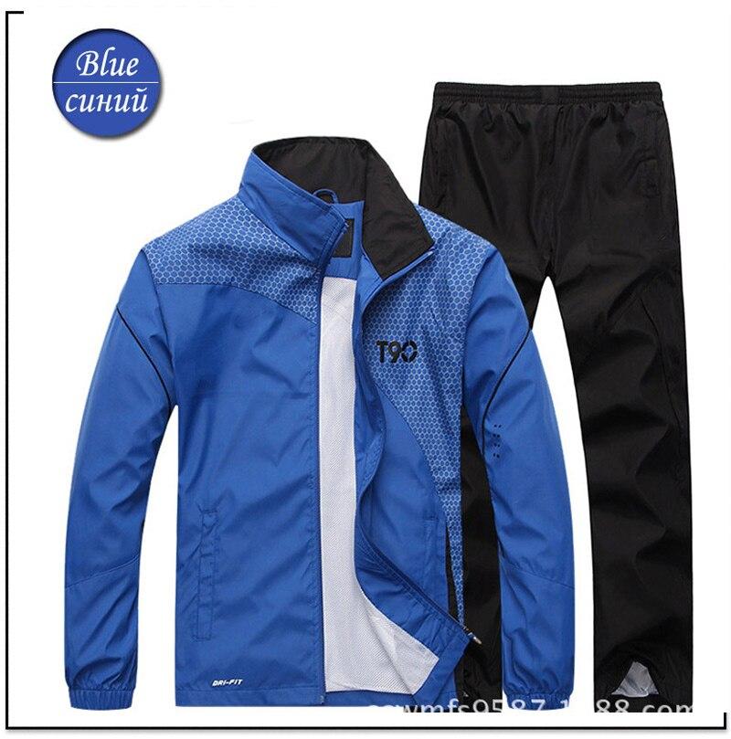 Men Track TrackSuit Sport Thin Jacket Coat Top Suit Set Trousers Pants Sweats Suits Sportwear Fall Spring Sweatshirt 4 Colors