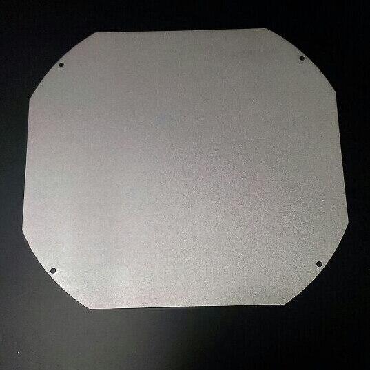 3 D printer parts DIY heated bed plate Aluminium Build Platform for Reprap Rostock Delta round 300 mm 3 mm thickness oxidation