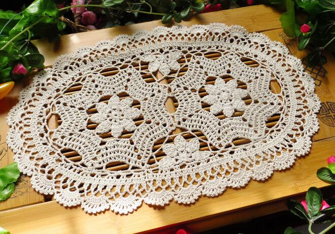 HOT DIY lace cotton place table mat pad cloth crochet cup doily tea coaster pot mug holder drink placemat kitchen accessories in Mats Pads from Home Garden
