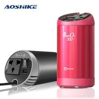 AOSHIKE Car Inverter 12V to 220V Air Purifier Auto Power Inverter Voltage Converter Regulator USB Car Charger Car Power Supply