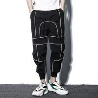 Hip Hop Harem Jogger Pants Men Streetwear Reflective Ankle length Mens Sweatpants Thin Style Spring Summer Joggers Men