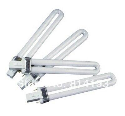Promotional discounts 9W Gel Curing Nail Art UV Lamp UV Light Bulb wholesale 10pcs/lot