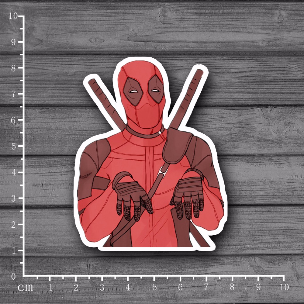 Deadpool Waterproof PVC On Laptop Notebook Skin Sticker Car Styling Home decor jdm Decal For kid Toy Stationery Stickers[single]