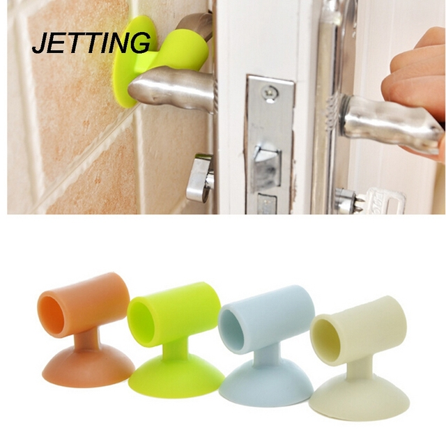 Jetting Door Wall Mute Crash Pad Cushion Cabinet Handle Lock Silencer Attached Silicone Anti
