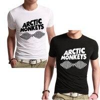 Arctic Monkeys Men S Tee Shirt SOUNDWAVE Indie Rock And Roll Short Tee O Neck Tshirt