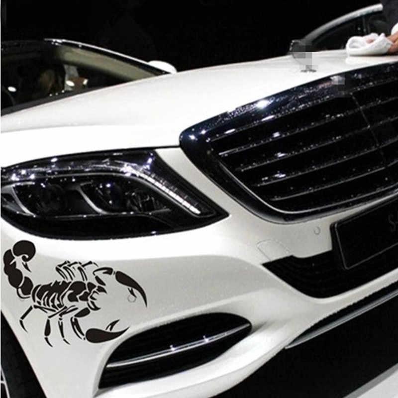 Mobil Styling mobil depan penutup Kalajengking kepribadian dekorasi stiker untuk BMW e46 e90 e39 e53 x5 e36 e60 f10 f20 f30 aksesoris