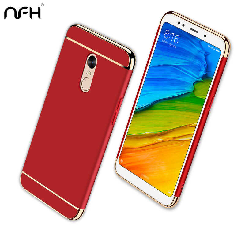 Luxury Plating 3 In 1 Redmi 5Plus Case For Xiaomi Redmi 5 A Plus 4X PC Shell Case For Redmi Note 5 Pro On Note 5A Prime 4x Cover