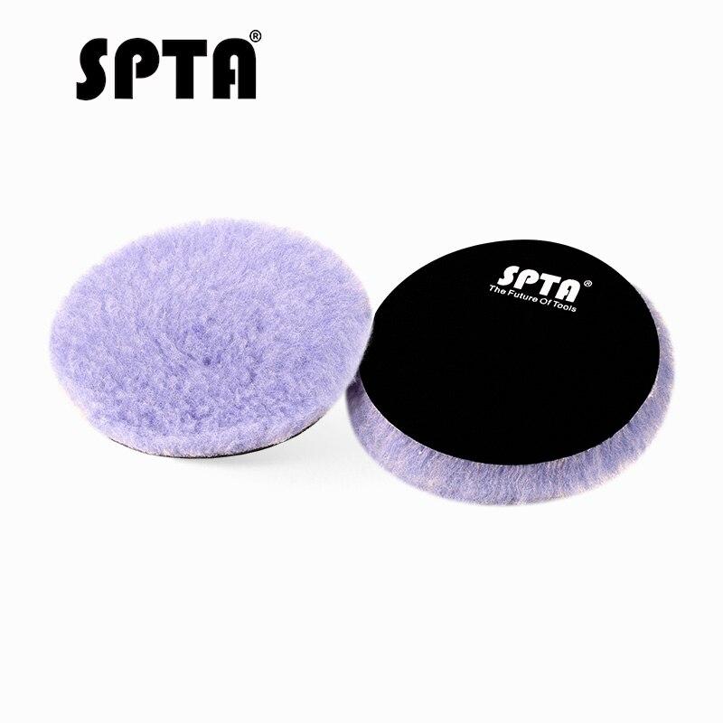 SPTA 6 Inch/5,2 Inch Lämmer Woll Polieren Polieren Pad Wolle Polierer Pads Für Auto Detaillierung Wachsen Polieren Buffer