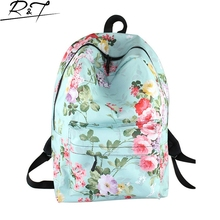 Casual backpacks Floral Landscape Print School Bags for Teenagers Women Travel Bag Children Girls Students Daily Book Mochilas