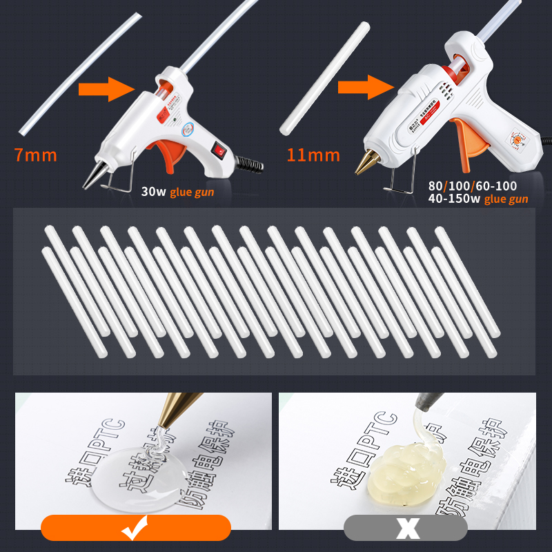 10Pcs/Lot  20Pcs/Lot  7mm x 150mm Hot Melt Glue Sticks For Electric Glue Gun Craft Album Repair Tools For Alloy Accessories Lahore