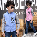 2017 Pioneer Kids casual shirt New Arrival Children boys Shirts Cotton 100% Solid Kids Shirts longsleeve casual baby kids shirt