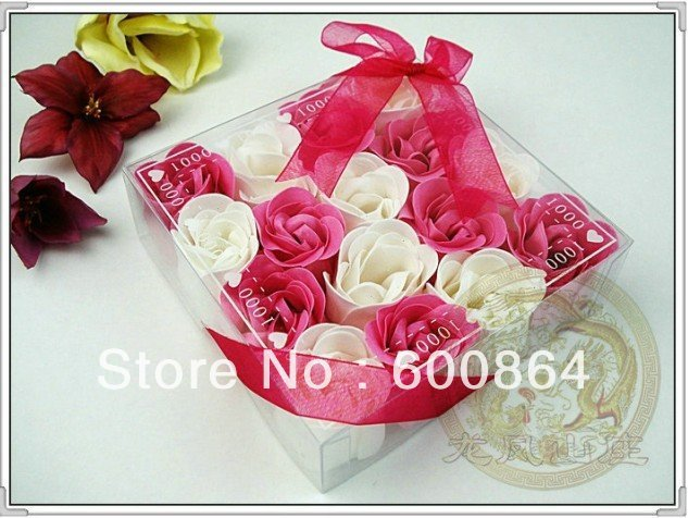 Rose soaps 16pcs/box 30boxes/lot flower soap 100% natural soaps Valentine's Day gifts for hers  freeshipping