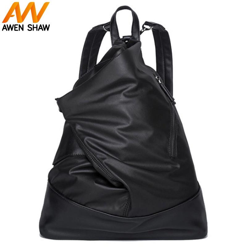 Nouveau sac à dos pour hommes à la mode petit sac à dos décontracté sac à bandoulière Style japonais et coréen hommes Messenger unisexe sac à dos en cuir pour ordinateur portable