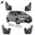 Черные передние и задние брызговики Брызговики Накладка для Toyota VITZ 2010-2018 брызговики
