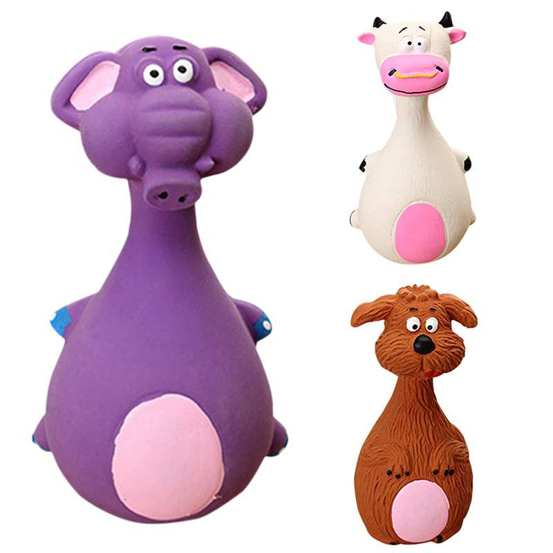 Animal Shape Pet Puppy Dog Latex Chew Squeaker Squeaky Sound Playing Toys Mascotas Cachorro Chien Honden Hond Perros New
