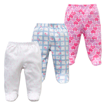 3PCS/lot Baby Pants 100% Cotton Autumn Spring Newborn Baby Boys Girls Trousers Kid Wear Infant Toddler Cartoon For Baby Clothing 4