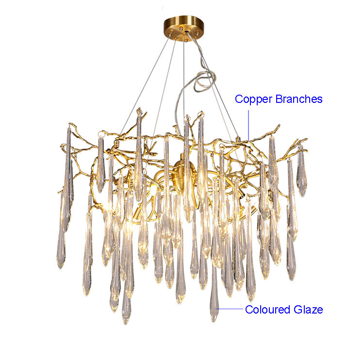 Phube lighting large artistic branches chandeliers coloured glaze phube lighting large artistic branches chandeliers coloured glaze chandelier light lighting hotel chandeliers copper chandelier in chandeliers from lights aloadofball Images