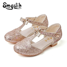 Girls Shoes Sandals Kids Glitter Leather Shoes Kids Casual Shoes Children Gladiator Sandals Baby Girls Flat Princess Beach Shoes