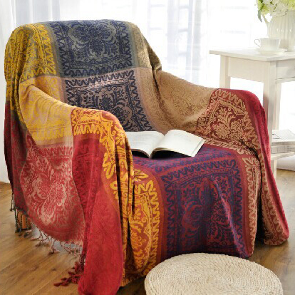 DREAMSOULE Sofa Blanket Thread Blanket for Beds Soft Bed Chenille Sofa Cover Towel Chair Blanket 220 x 260cm / 150 x 190cm