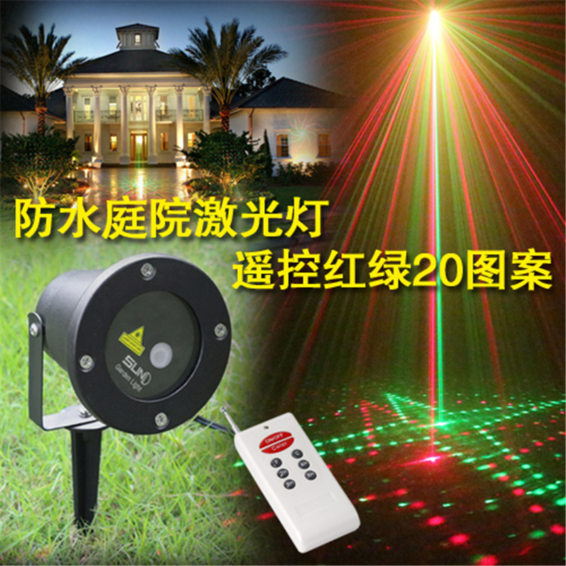 20in1 waterproof outdoor christmas lights elf laser projectorred green new year christmas light projector with remote control in stage lighting effect from
