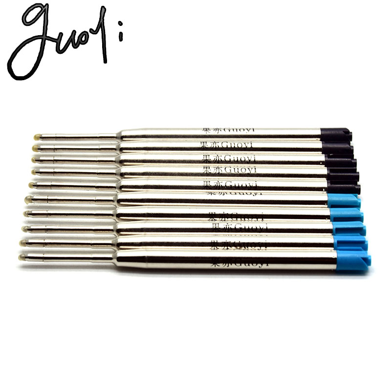 Guoyi D099 Ballpoint Pen Refill 10pc/lot Novel For Office Stationery Gift Pen Hotel Business Writing Length 700m G2 424 Pen