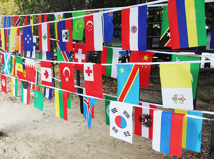 Free Shipping 20 X30 Cm Bar Decoration Flag Brazil World Cup 32 Teams Bunting Flag 32 Flags Set