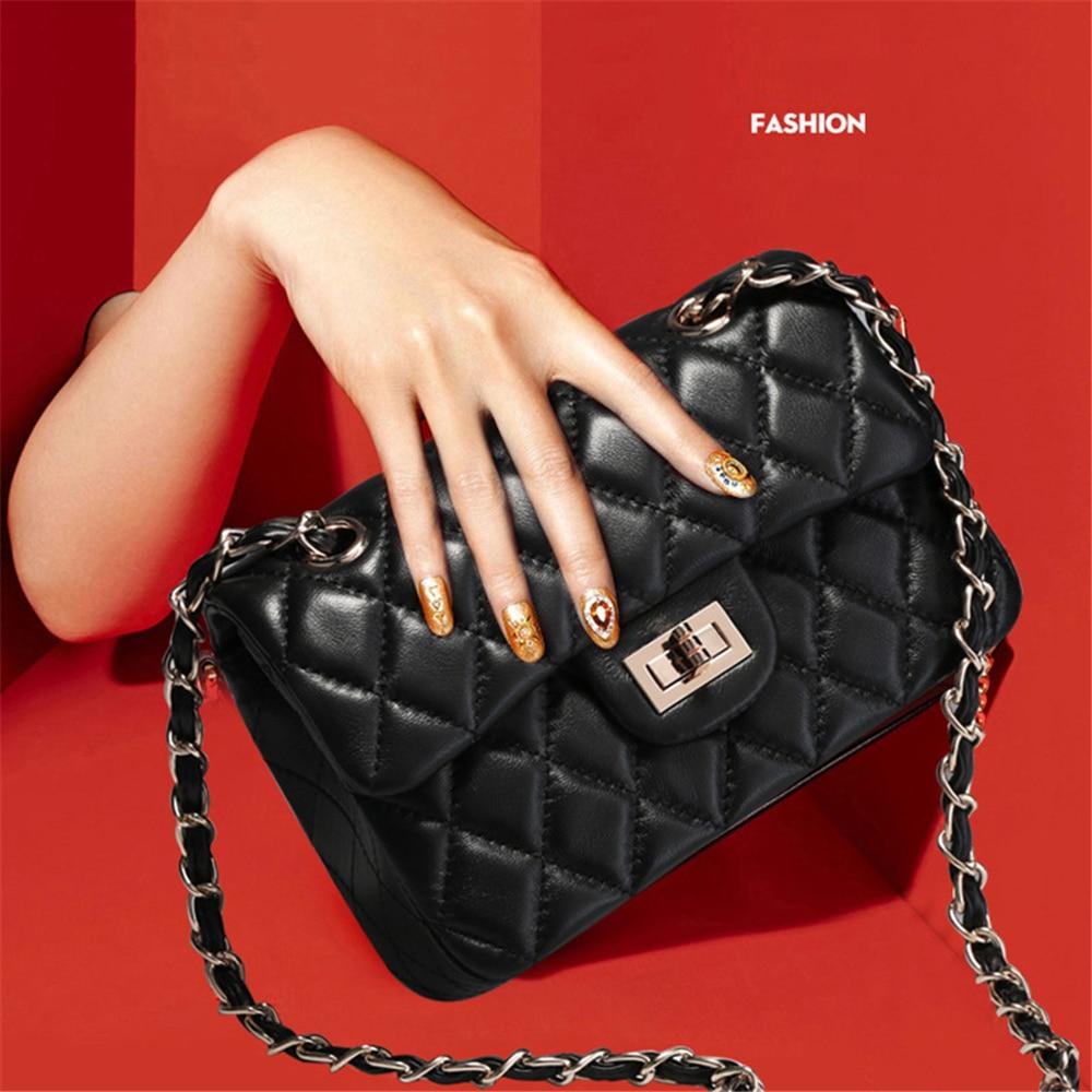 Classic Style Fashion Brand Design Women Crossbody Bag Sheep Skin Diamond Lattice Shoulder Bag Chain Messenger Bag for Lady недорго, оригинальная цена