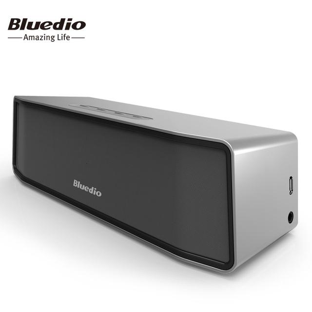 Bluedio bs-2 (camelo) mini bluetooth speaker wireless speaker portátil sistema de som de música estéreo 3d surround (prata)