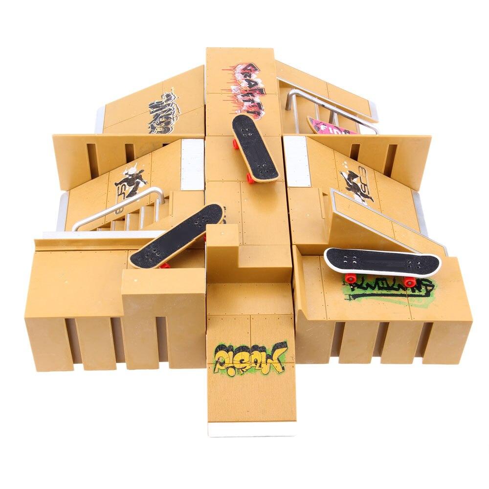 11 pcs Skate Parc Kit Rampe Pièces Pour Tech Deck Doigt Planches À Roulettes Amateurs de Sports Extrêmes Adapté Cadeaux Pour Enfants - 3
