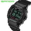 Relógio Digital do estilo militar do exército Men Watch Data Calendário resistente à água LED Sports Relógios relogio masculino